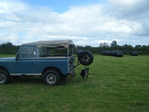 Landrover and the Silage